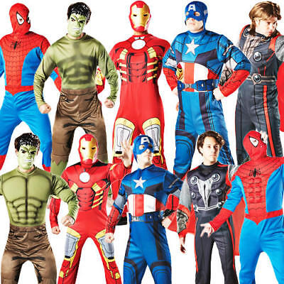 Marvel Superhero Mens Fancy Dress Avengers Character Adults Halloween Costume