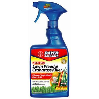 Bayer Advanced All-in-One Lawn Weed and Crabgrass Killer Ready-To-Use, 24 (Bayer Advanced Lawn Weed And Crabgrass Killer)
