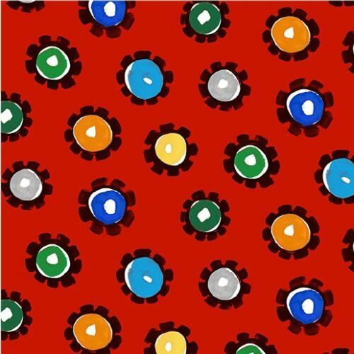 Diggers And Dumpers By Michael Miller Fabrics - Red Hot Wheels  #9410-R