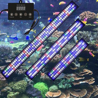 29-200cm Aquarium LED Beleuchtung Aufsetzleuchte Lampe Vollspektrum weiß+blau