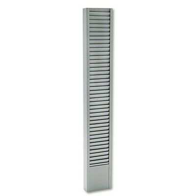 Buddy 40 Pocket Badge Holder - Buddy Products 83632 40-Pocket Badge Holder Rack Vertical Steel Platinum