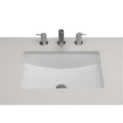 Ronbow Ceramic - Ronbow 200520 Universal Ceramic Undercounter Bathroom Sink, White