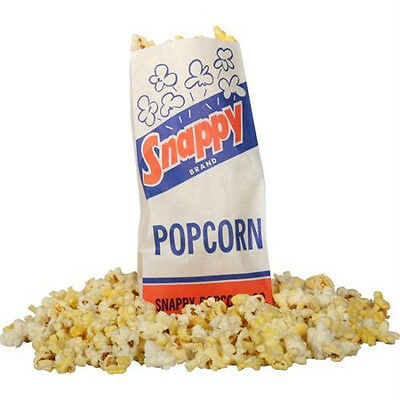Popcorn Machine Supplies 1000 - 1 Oz Popcorn Sack Bags