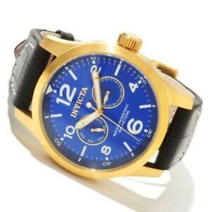 blue gold watch invicta mens watch gold blue