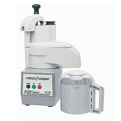 Robot Coupe R301 Combination Continuous Feed Food Processor W 3.5 Qt. Gray Bowl
