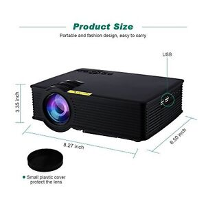 Video Movie Projector LCD HDMI LED Projecteur 3007