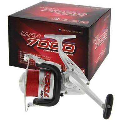 NGT MAR7000 1BB Multi Disk Front Drag Sea Fishing Reel Pre Loaded 15lb Line