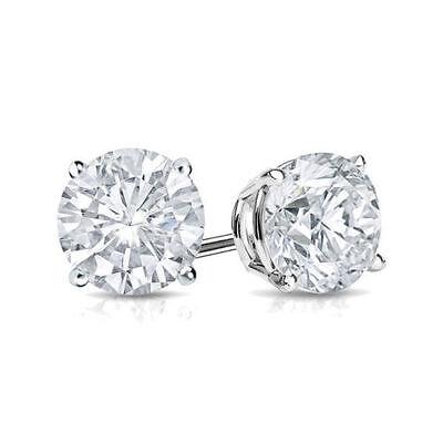 2Ct Diamond Stud Earring Womens Studs 14k White Gold Mens Earrings Round Diamond