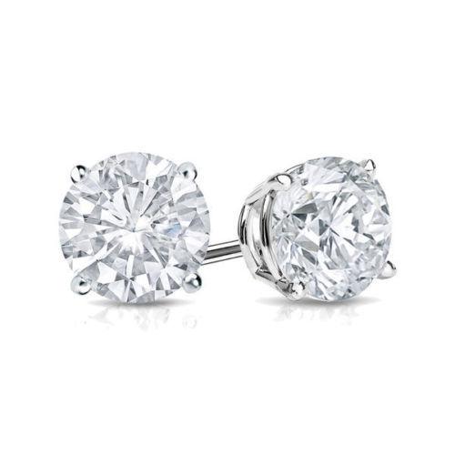2Ct Diamond Stud Earring Womens Studs 14k White Gold Over Mens Earrings