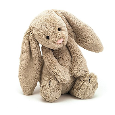 Jellycat Bashful Beige Bunny, Medium, 12 inches
