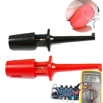 New 1 Pair Single Hook Clip Test Probe Lead Wire Mini Grabber Kit For Multimeter