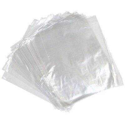 1000 CLEAR PLASTIC POLYTHENE BAGS 15x20