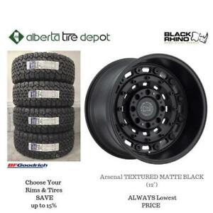 OPEN 7 DAYS LOWEST PRICE Save Up To 10% Black Rhino Arsenal TEXTURED MATTE BLACK (12). Alberta Tire Depot.