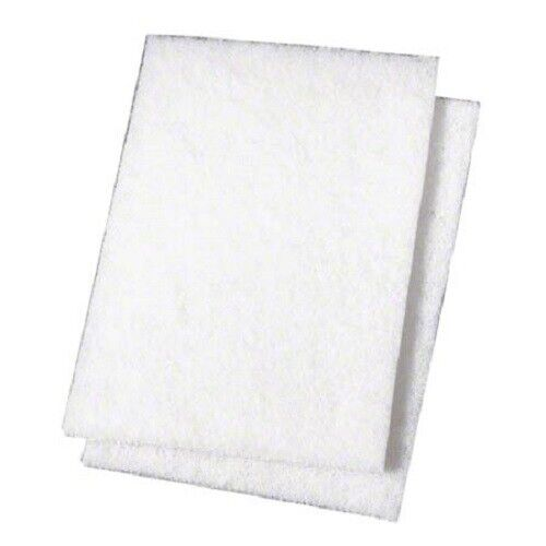 3M Niagara Light-Duty Scouring Pad 98N, 6in x 9in, White, Pack Of 20 - Sealed