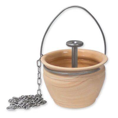 Sauna Aufgusstopf / Aromatopf mit Tropfventil plus gratis 10g Mentholkristalle