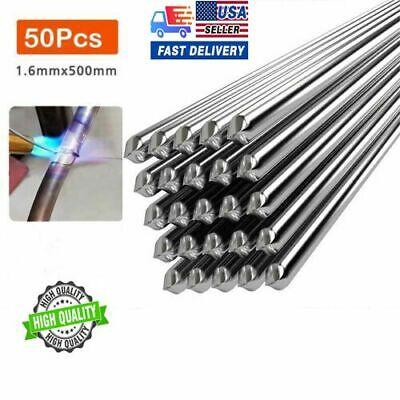 50x Aluminum Solution Welding Flux-cored Rods Wire Brazing Rod 1.6mm X 50cm 2021