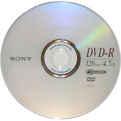 15 SONY Blank DVD-R DVDR Silver Logo Branded 16X 4.7GB 120min Media Disc