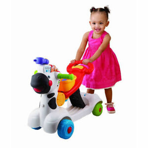 VTech 3 in 1 Learning Zebra Ride on Scooter Push Walker Active