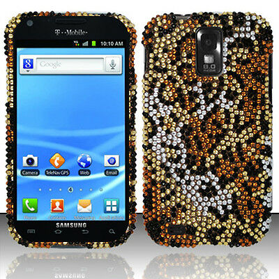 For T Mobile Samsung Galaxy S Ii 2 T989 Crystal Bling Hard Case Cover Cheetah