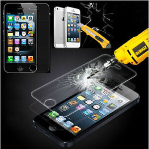 100% Genuine Tempered Glass Film Screen Protector for Apple iPhone 5S & 5 5c New