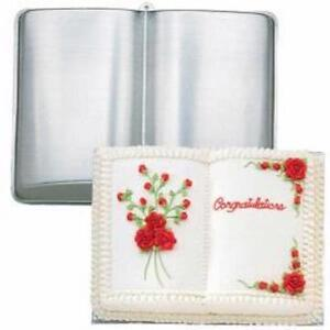 OPEN BOOK SHAPED CAKE TIN PAN MOULD CHRISTENING GRADUATION DECORATING NOVELTY