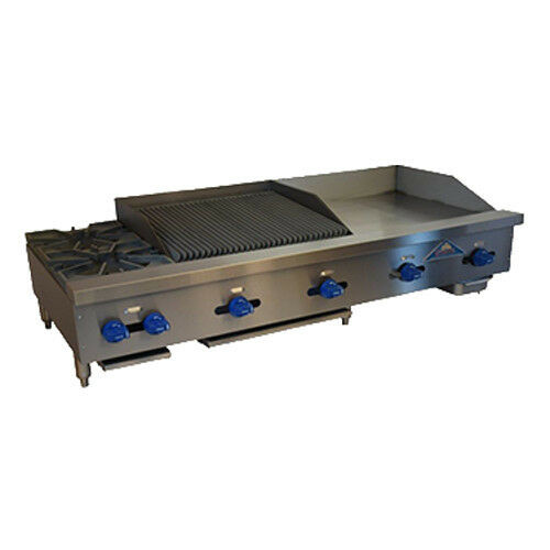 "Comstock Castle FHP60-24-2RB 60"" Charbroiler/Griddle/Hotplate"