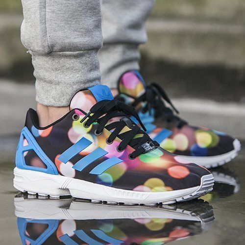 3346d78eb NEW Adidas Originals ZX Flux CITY LIGHTS Bubble Gum Multi Men s Shoes B23984