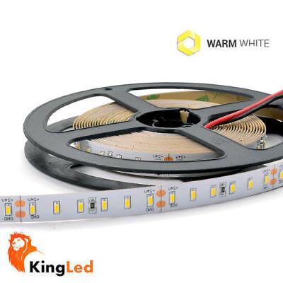 KingLed® Tira LED 12V 600SMD3014 Blanco Calido 60W Strip 6mm Slim IP20