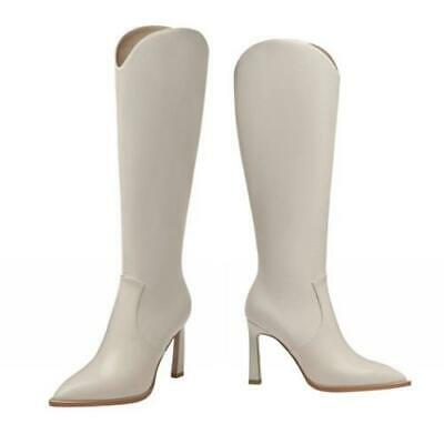 Details about  /Occident Knee High Boots Stilettos Heels Pointy Toe Side Zip Solid Women/'s Shoes