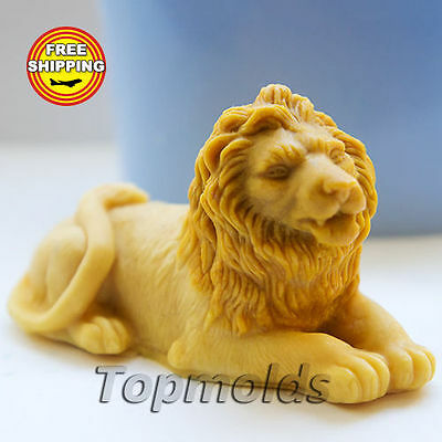 Silicone soap Mold Lion 3В Food-grade  Free Shipping