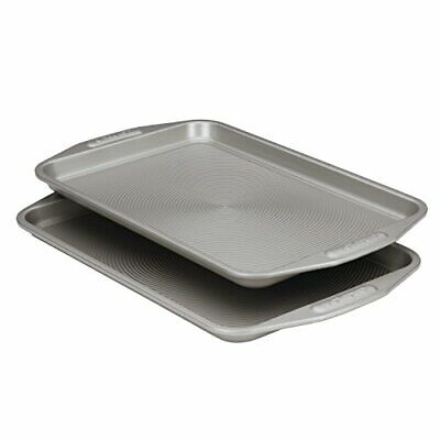 57893 Total Bakeware Set Nonstick Cookie Baking Sheets, 2 Piece, Gray