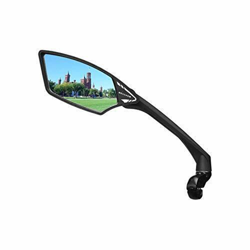 Handlebar Bike Mirror HD Blast Resist Glass Lens E Bike Safety Side Mirror