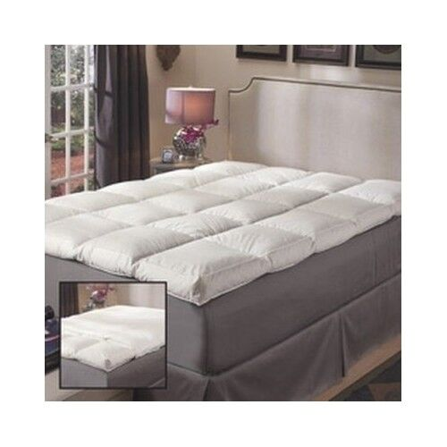 Featherbed Mattress Topper Queen 5 Inch Cover Pad Bedding Sl