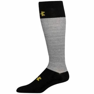 UNDER ARMOUR UA Hockey OTC Black Grey Cut Resistant Socks Youth L 1-4 Wmn 4-6.5