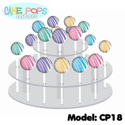 NEW! CAKE POPS DISPLAY STAND - BEAUTIFUL HANDMADE ACRYLIC CAKE POP SHELF HOLDER