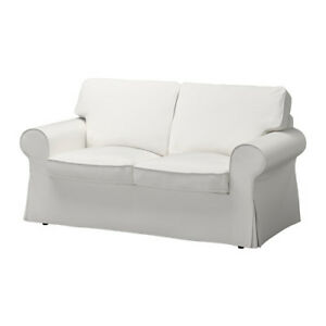 2 Sofas Ektorp  (SofaBed)& Footstool/2 sofas (lit) et reposepied
