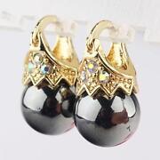 Black Gold Hoop Earrings