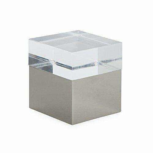 Jonathan Adler - Monaco Square Box - Small - Clear & Polished Nickel