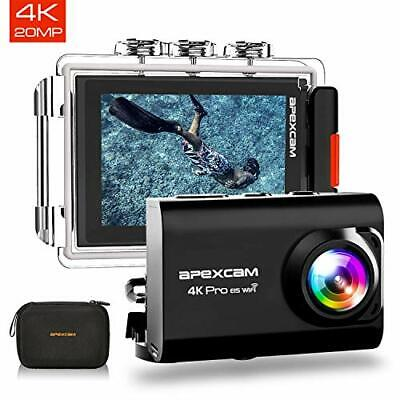 Apexcam 【2019 Nuova】 Action Cam PRO Fotocamera 4K EIS WiFi 20MP Ultra HD Imperme