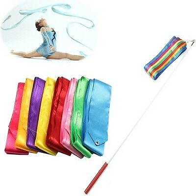 6M Dance Ribbon Gym Rhythmic Art Gymnastic Ballet Streamer Twirling Rod 9 Colors - Dance Ribbon