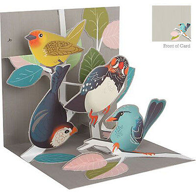 3D Pop Up Greeting Card from Up With Paper - BIRCH TREE BIRDS - UP-WP-1181