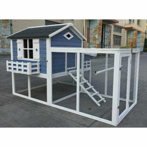 "85"" Flyline Garden Window Large Chicken Coop Chook Pen Cage House Predator Proof"