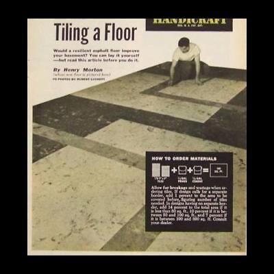 Install Asphalt Floor Tile 1950 HowTo INFO Tiling