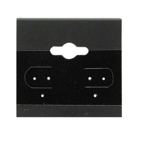 """1000 Black Hanging Earring Display Cards 1 1/2""""H x 1 1/2""""W"""