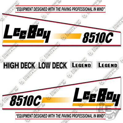 Leeboy 8510c Decal Kit Asphalt Paver Equipment Decals - 7 Year Vinyl