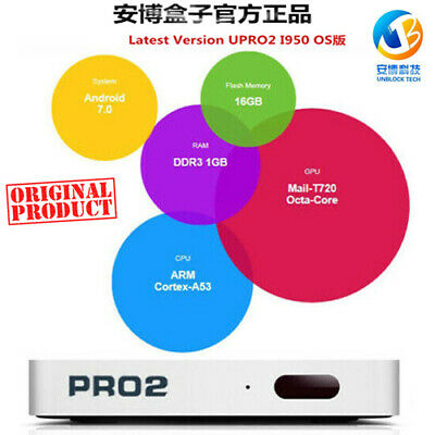 2019最新安博盒子Pro 六代 Unblock Tech UPRO 2 Gen6 越狱版UBOX6 TV Box Adults Channels中港台頻道