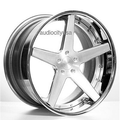 "4pcs 24"" AC Forged Wheels Rims ACR405 Satin 3 piece"