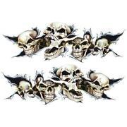 Motorcycle Skull Decals