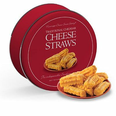 Mississippi Cheese Straw Factory Traditional Cheddar Straws Gift Tin 16oz (Cheese Straws)