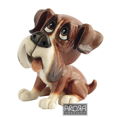 Arora Little Paws Boo Boxer Figurine Ornament  Funny Dog Lovers Gift